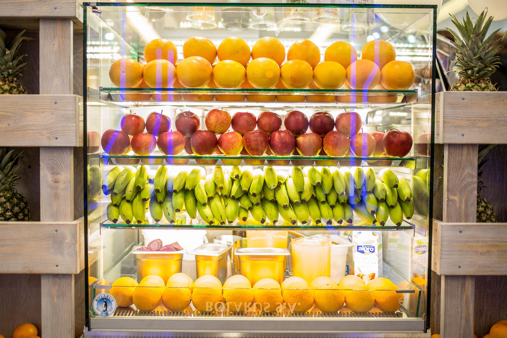 Witryna z owocami